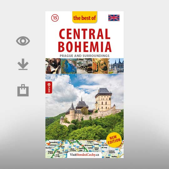 Central Bohemia on the map - Czech Republic, photo by: Archiv Vydavatelství MCU s.r.o.